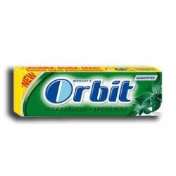 CHICLE ORBIT HIERBABUENA SIN AZUCAR